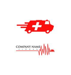 Set ambulance van vehicle speeding simple vector
