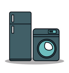 set home appliances icons vector image
