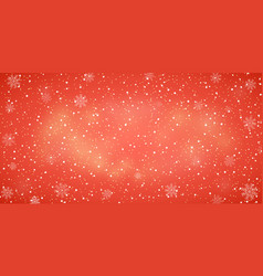 snow red background christmas snowy winter design vector image