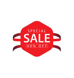 special sale 40 off template design vector image