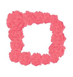square frame of pink roses vector image