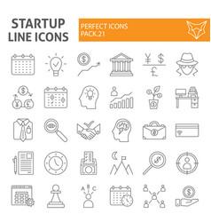 startup thin line icon set finance symbols vector image