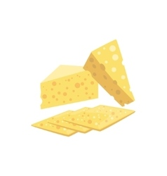 Swiss Cheese Set Of Pizza Ingredients vector