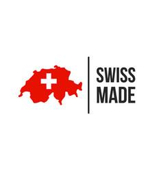Swiss made switzerland seal icon vector