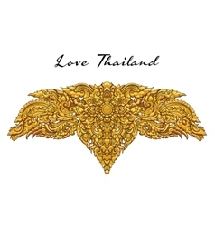 Thai floral decorative ornament EPS vector