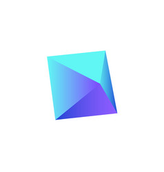 Triangular realistic icon vector