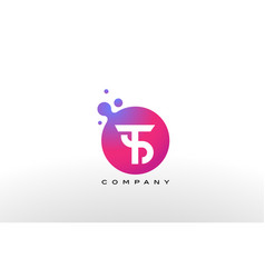 Ts letter dots logo design with creative trendy vector