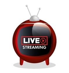 tv video play live streaming graphic vector image