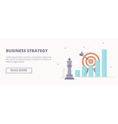 Business strategy horizontal banner vector image vector image