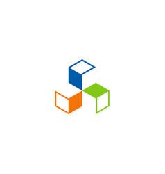 circle shape geometry construction logo vector image