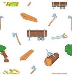 Firewood pattern cartoon style vector image