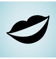 mouth icon design vector image vector image