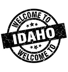 welcome to idaho black stamp vector image vector image