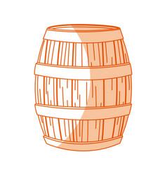 wooden beer oktoberfest beverage drink vector image vector image
