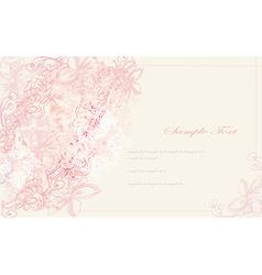 elegant vintage floral frame card vector image vector image