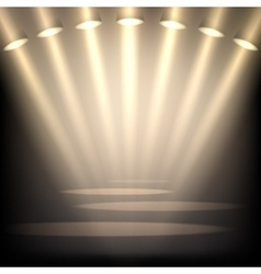 Empty stage background vector image vector image