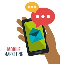 smartphone mobile marketing email vector image