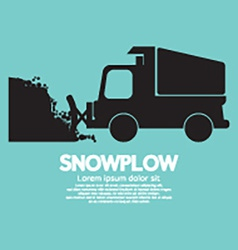 Snowplow Removing The Snow From Road vector image