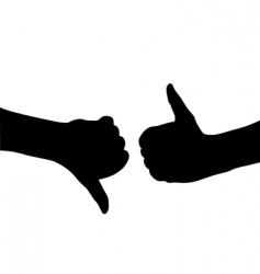 human hand gesture vector image vector image