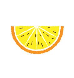 Lemon and orange slice hand draw vector