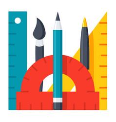 school tools icon vector image