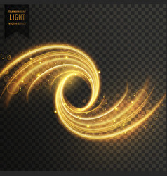 transparent light shimmer effect in golden color vector image vector image