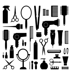 Hairdressing equipment vector image