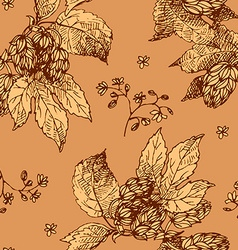 hop seamless background vector image