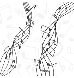 musical notes staff vector image