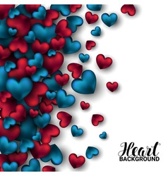 Realistic 3D Colorful Red and blue Romantic vector image vector image