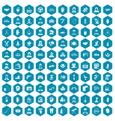 100 human resources icons sapphirine violet vector