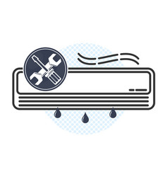 air conditioning maintenance and repair vector image
