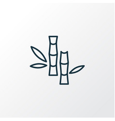 bamboo icon line symbol premium quality isolated vector image