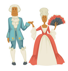 Baroque epoch man and woman court dame vector