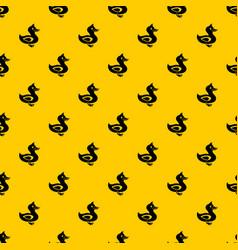 Black duck pattern vector