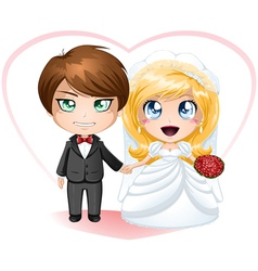 Bride and Groom Getting Married vector