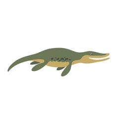 Brontosaurus floating dinosaur vector