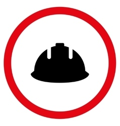 Builder Helmet Flat Rounded Icon vector