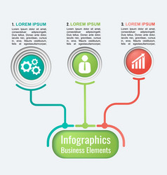 business template for presentation vector image