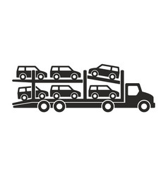 car carrier truck icon vector image