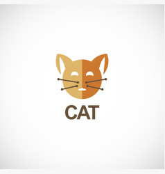 cat head logo vector image
