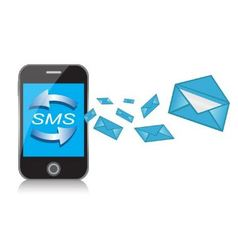 cell phone and text messages vector image