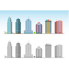 city skyline decorative isolated skyscraper vector image