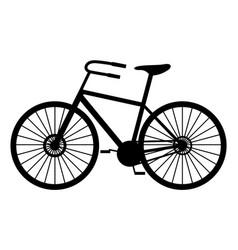 classic man bike black silhouette vector image