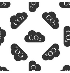 Co2 emissions in cloud icon seamless pattern vector