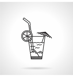 Cocktail black line icon vector image