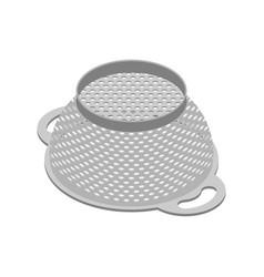 Colander isolated isometry pastafarianism cap vector
