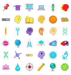 Creative working icons set cartoon style vector