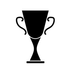 cup winner sign black on white 3003 vector image