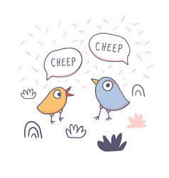 cute cartoon chicken doodle for t-shirt print vector image